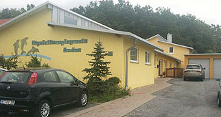 Fassade der Einrichtung für Physiotherapie mit Sitz in der Nähe von Würzburg